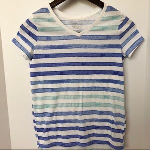 Old Navy Watercolor Striped Tee